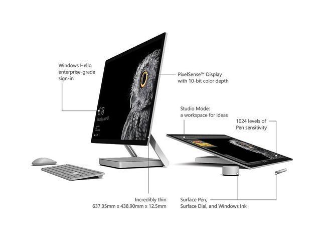 Microsoft All-in-One Computer Surface Studio 45U-00001 Intel Core i7 6th  Gen 6820HQ (2 70 GHz) 32 GB DDR4 2 TB HDD 28