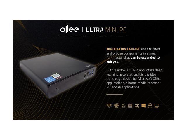 Ollee Ultra Mini Smart Cloud PC MAPMG128 Celeron N3350 (up to 2 4 GHz) 4 GB  DDR3L 32 GB eMMC 128 GB SSD Intel HD Graphics 500 Windows 10 Pro -