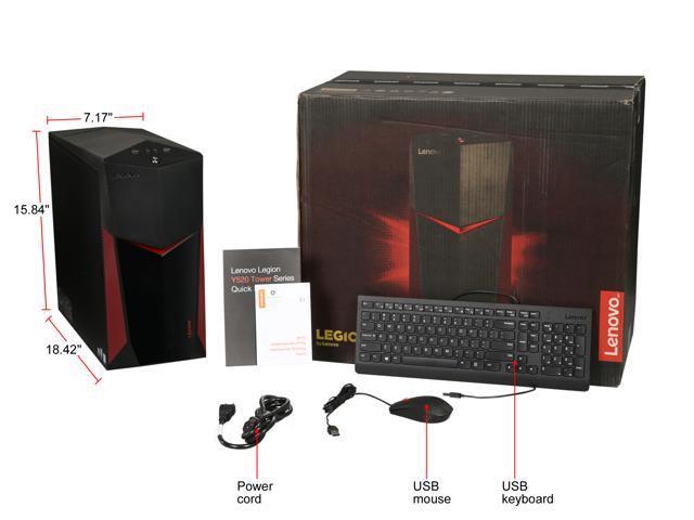 Lenovo Gaming Desktop Legion Y520T-25ICZ (90JB003HUS) Intel Core i5 8th Gen  8400 (2 80 GHz) 8 GB DDR4 1 TB HDD NVIDIA GeForce GTX 1050 Ti Windows 10