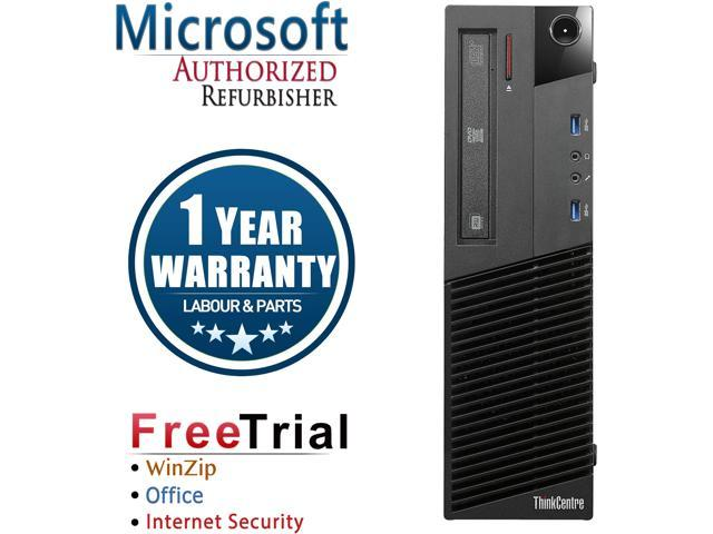 Refurbished: Lenovo Desktop Computer ThinkCentre M83 Intel Core i5 4th Gen  4570 (3 20 GHz) 16 GB DDR3 2 TB HDD Windows 10 Pro 64-bit - Newegg com