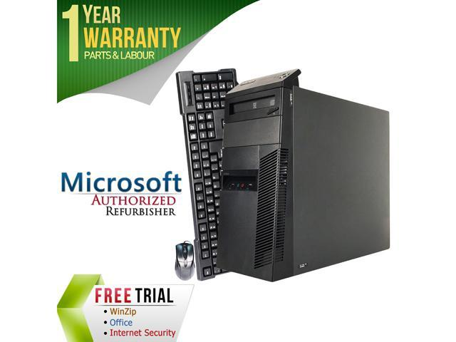 Refurbished Lenovo ThinkCentre M82 Desktop Tower Intel Core i5 3470 3.2G / 16G DDR3 / 2TB / DVD / Windows 7 Professional 64 Bit / 1 Year Warranty