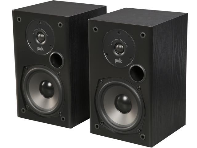 Polk Audio T15 Home Theater And Music Bookshelf Speaker Black Pair