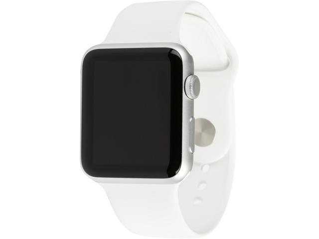 reputable site ced86 f2d62 Apple Watch Sport 42mm Smartwatch (Silver Aluminum Case, White Sport Band)  - Newegg.com
