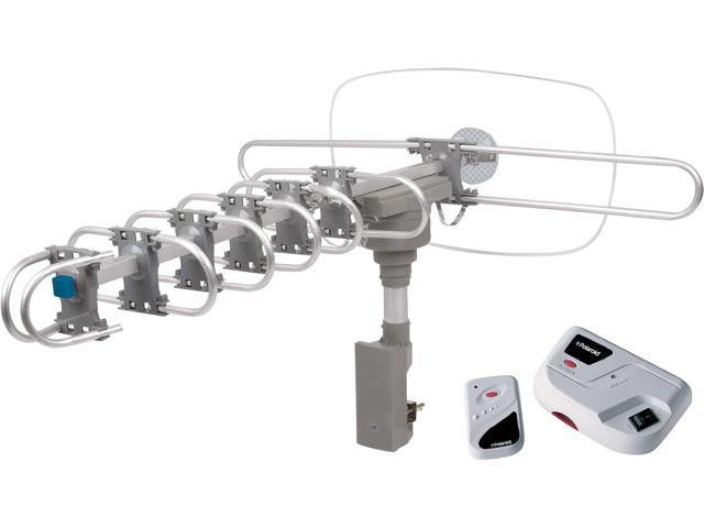 Polaroid Outdoor/Indoor AMA-1850P 360° Motorized Rotating HDTV Amplified  Antenna For Outdoor/Attic Use Silver - Newegg com