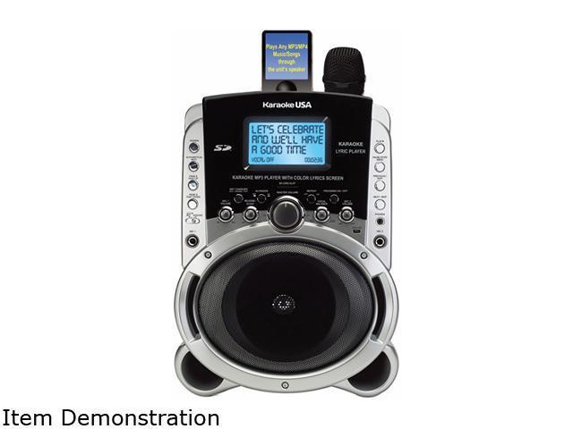 Karaoke Usa SD519 Portable Multi-Format Digital Karaoke Player with Lyric  Screen - Newegg com