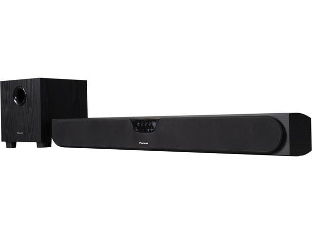 Pioneer Sound Bar >> Pioneer Spsb23w B Soundbar Speaker System W Wireless Subwoofer