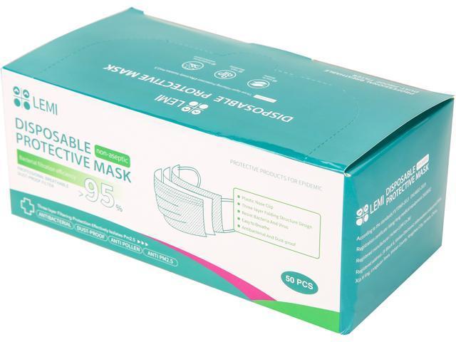 LEMI Disposable Protective Mask - 50 pcs / box