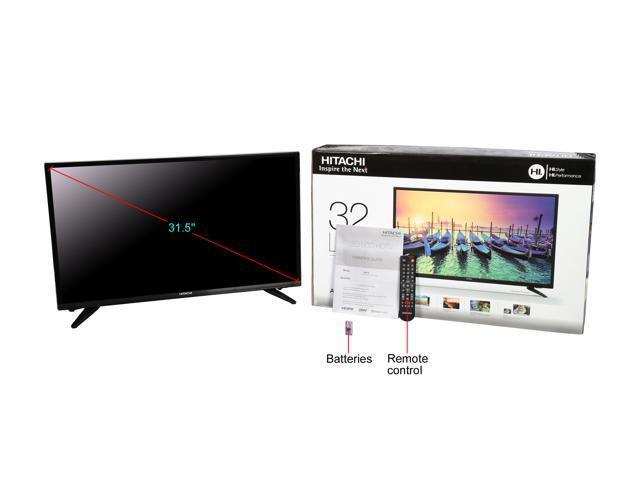 Hitachi 32E10 32-Inch Alpha Series HD (720p) HD LED TV - Newegg com