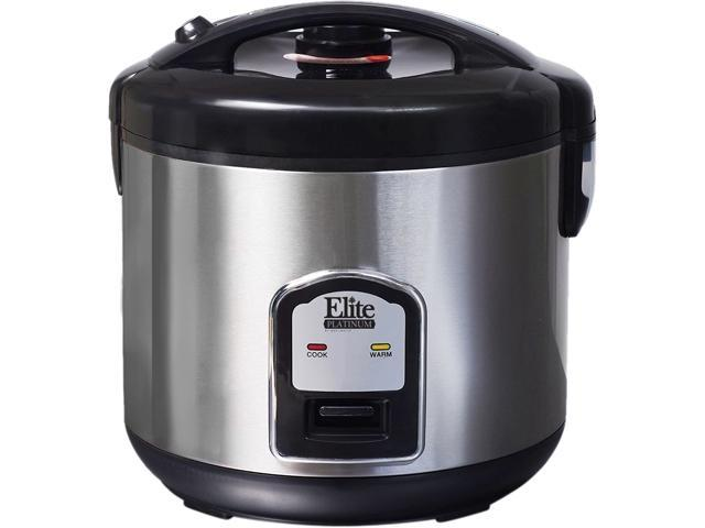 Maxi-Matic Elite DRC-1000B Stainless Steel Platinum 10-Cup Stainless Steel  Rice Cooker - Newegg com