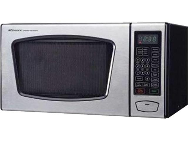 Emerson Mw8991sb 0 9cu Ft 900 Watt Touch Control Microwave Oven Stainless