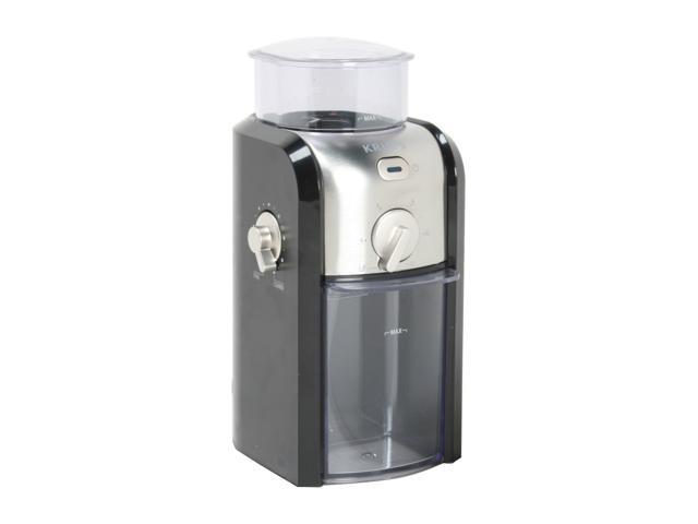 krups gvx2 12 black silver coffee grinder newegg com