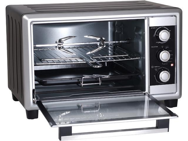 Elite Cuisine 6-Slice Countertop Toaster Oven Rotisserie & Broiler  ERO-2008NZS - Newegg com