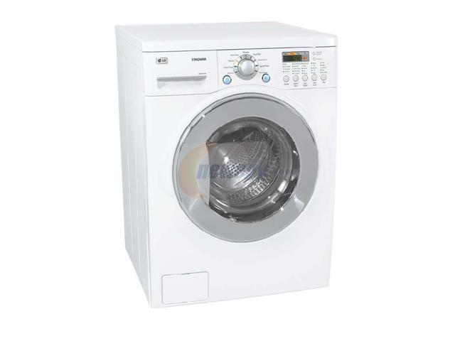 Lg Wm3431hw 2 44 Cu Ft White Washer Dryer Combo Newegg Com