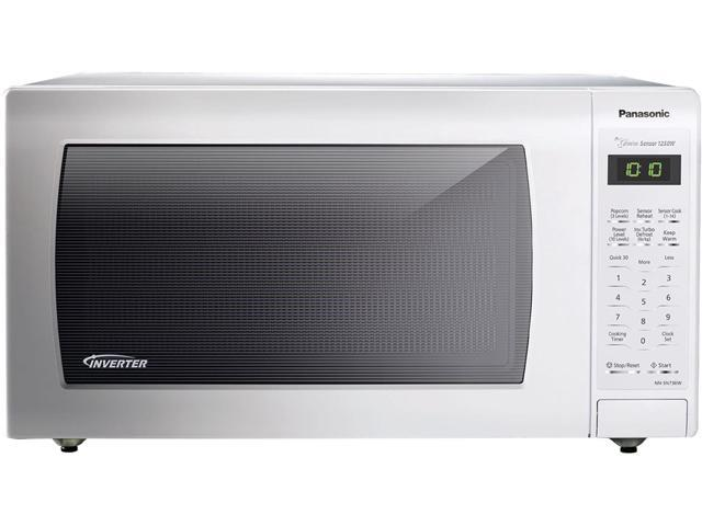 Panasonic 1 6 Cu Ft Countertop Microwave Oven With Inverter Technology White Nn Sn736w
