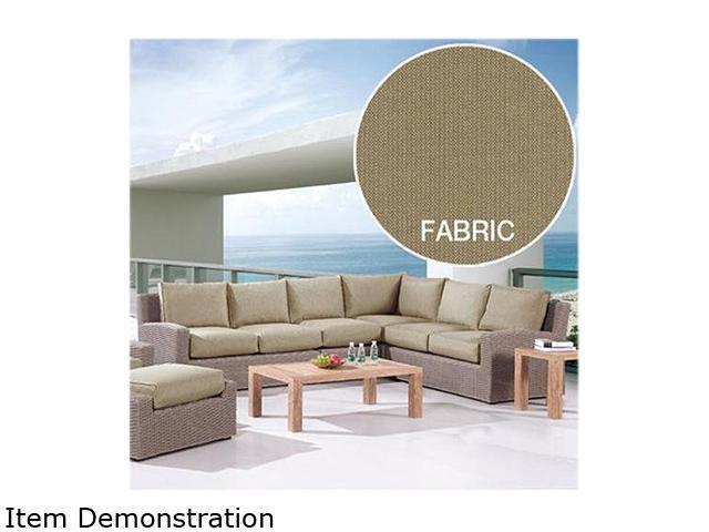 Emerald Home Furnishings Reims Sectional Mira Wicker 4 Pc