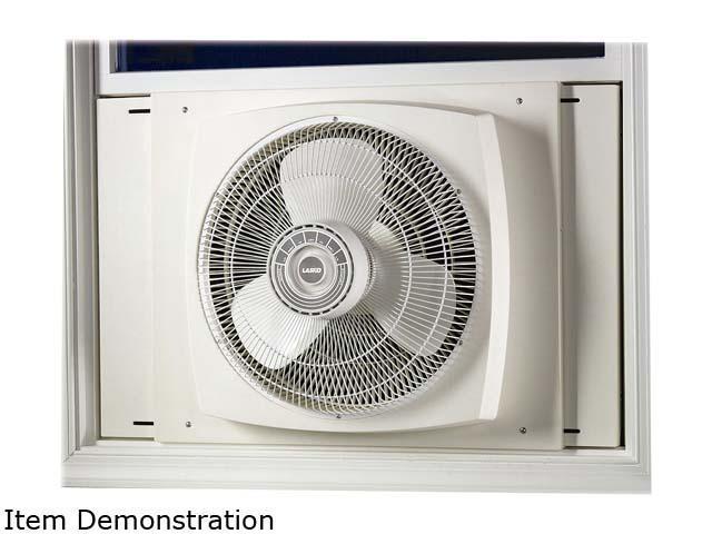 Lasko 2155A 16-inch 3 Speeds Electrically Reversible Window Fan - White -  Newegg com