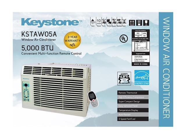 Keystone KSTAW05A 5,000 Cooling Capacity (BTU) Window Air Conditioner -  Newegg com