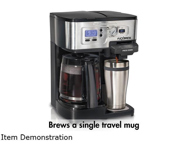Hamilton Beach Flexbrew K Cup 1 12 Cup Coffeemaker Neweggcom