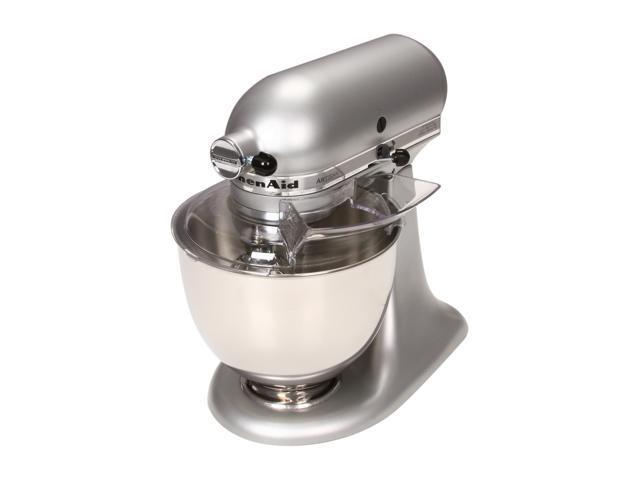 Awesome Kitchenaid Ksm150Pssm Artisan Series 5 Quart Tilt Head Stand Mixer Silver Metallic Newegg Com Interior Design Ideas Lukepblogthenellocom