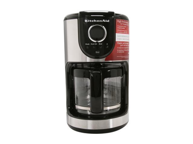 KitchenAid KCM111OB Onyx Black 12 Cup Glass Carafe Coffee Maker