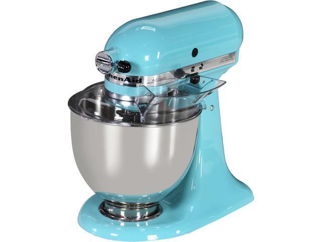 Kitchenaid Ksm150psaq Artisan Series 5 Quart Tilt Head Stand Mixer Aqua Sky Newegg Com