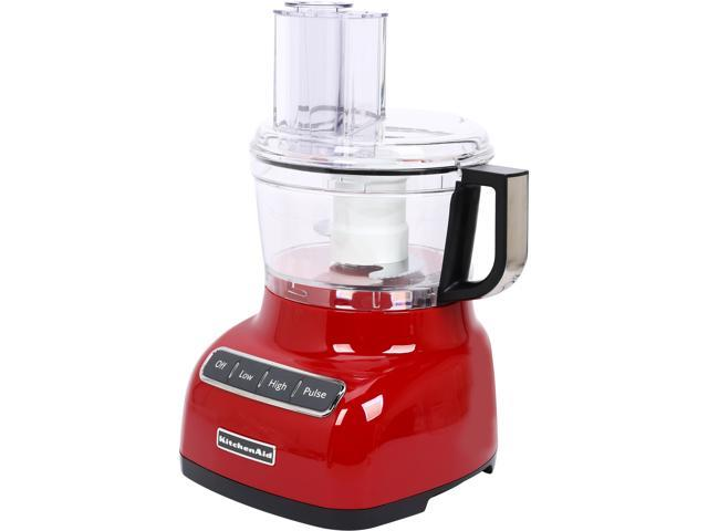 kitchenaid kfp0711er empire red 7 cup food processor with exactslice
