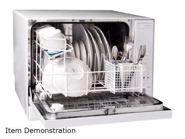 Haier Hdc1804tw 4 Place Setting Tabletop Dishwasher White