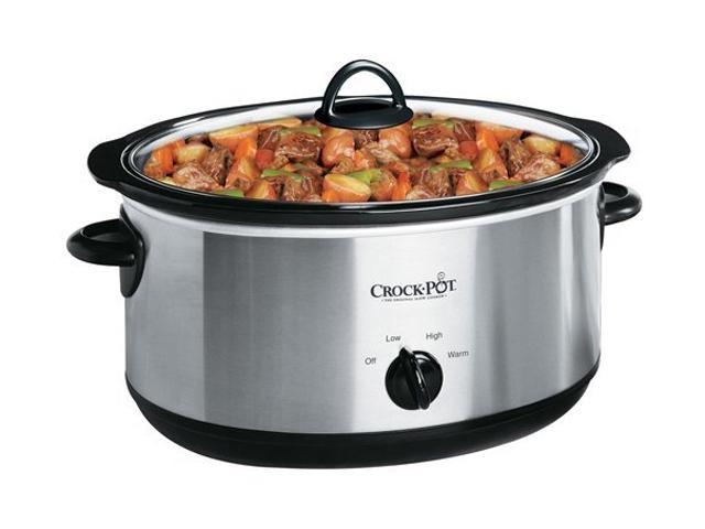 crock pot scv700ss 7 quart oval manual slow cooker silver newegg com rh newegg com Euro-Pro Crock Pot Manual Rectangle Euro-Pro Slow Cooker