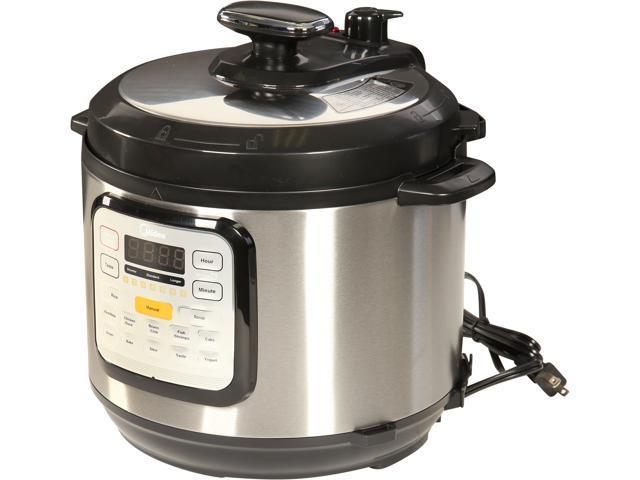 Midea 6 Qt  7-in-1 Programmable Electric Pressure Cooker MY-CS6002WSS -  Newegg com