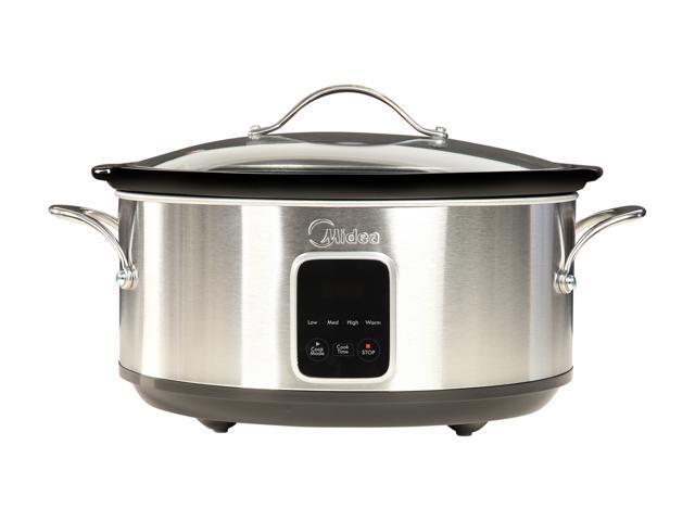 MSC1765DIP Black Midea 6.5 Qt Slow Cooker with 16 oz Warmer Crock