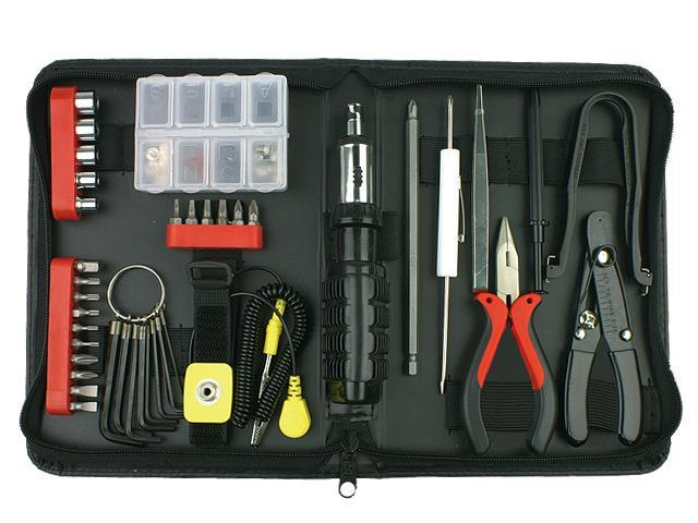 591c99f7d Rosewill Tool Kit Computer Tool Kits for Network   PC Repair Kits with  Plier Hex Key Bits ESD Strap Phillips Screwdriver Bits   Socket Sets RTK-045