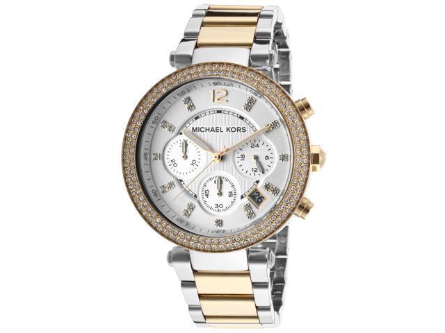 f87d85d8448c Michael Kors Parker Chronograph Crystal Two Tone Womens Watch MK5626