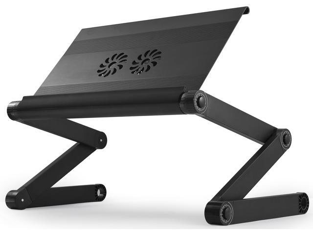 Miraculous Workez Executive Adjustable Ergonomic Laptop Cooling Stand Lap Desk For Bed Couch Folding Aluminum Desktop Computer Riser Tray Height Tilt Angle Theyellowbook Wood Chair Design Ideas Theyellowbookinfo