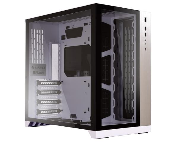 Infinito Affidabile Menda City  LIAN LI PC-O11 Dynamic White Tempered Glass on the Front and Left ...