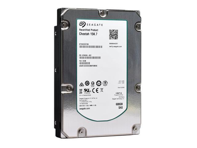 Refurbished: Seagate Cheetah 15K.7 HDD ST3600057SS 600GB 15kRPM SAS 6Gb/s Interface 3.5-Inch Internal Enterprise Hard Disk Drive