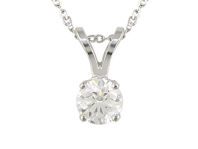 4c5394c9ea6f8 14K White Gold 1/3ctw Diamond Solitaire Pendant - Newegg.com