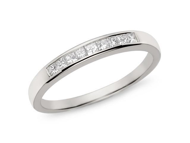 1/4 ct t w  Diamond Eternity Ring in 10k White Gold, I2-I3, G-H-I -  Newegg com