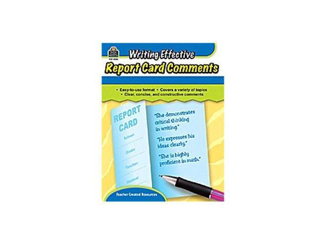 teacher created resources tcr8856 writing effective report card