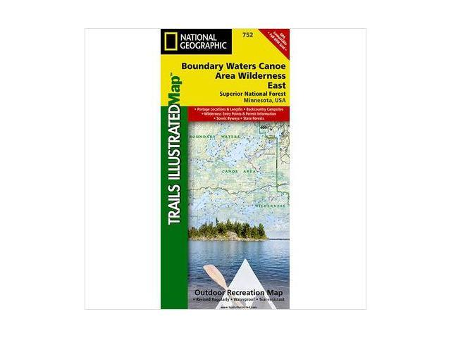 National Geographic Maps TI00000752 Boundary Waters, East, Superior  National Forest Map - Newegg.com