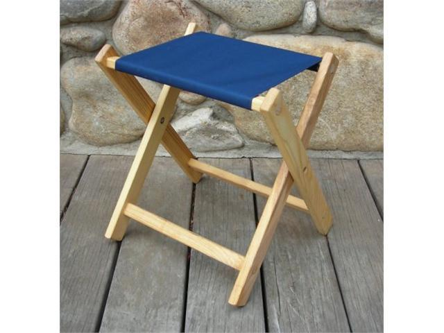 Bon Blue Ridge Chair Works FSCH04WN Folding Stool   Navy