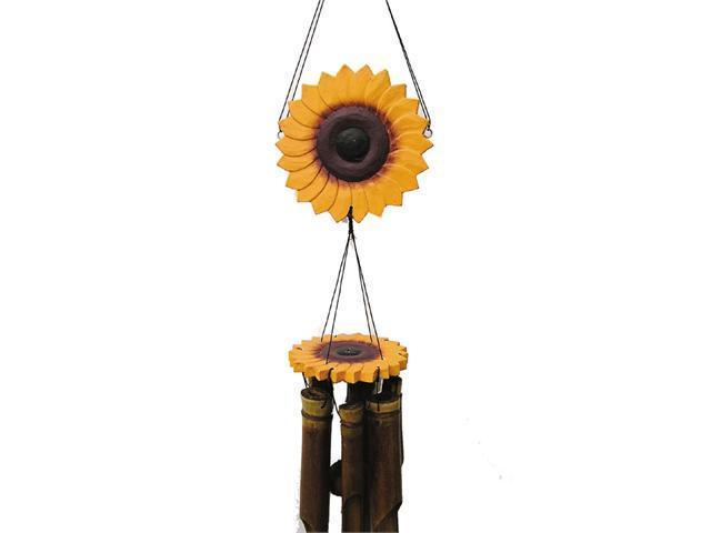 cohasset imports ch149 5 50 x 5 50 x 14 sunflower wind chime hand tuned newegg com newegg com