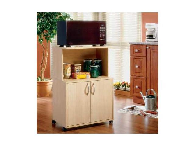 MFI Nexera 599 Natural Maple Delissio Microwave Kitchen Cart - Newegg.com