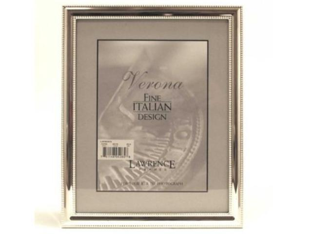 Lawrence Frames 510757 Lawrence Frames 5x7 Metal Picture Frame Silver-Plate w...