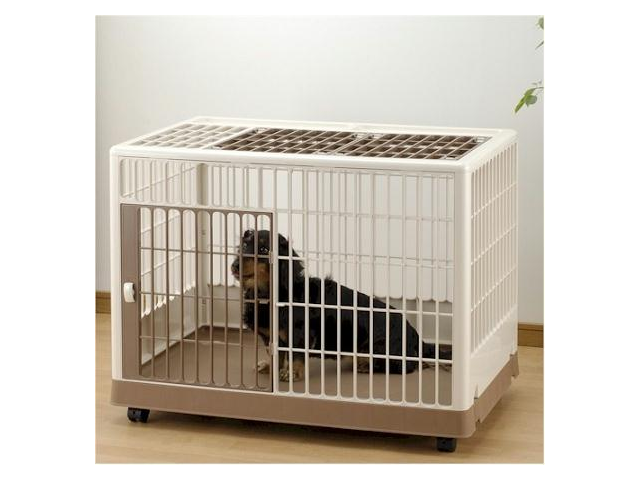 Richell Usa 94603 Pet Training Kennel Pk 650 Off White Mocha