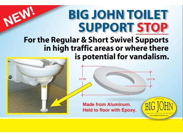 John Products 1ss Toilet Support Stop
