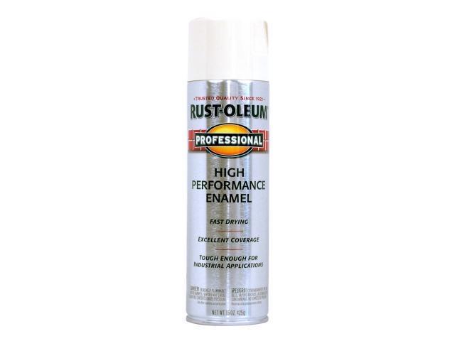 Rustoleum 7592-838 Gloss White High Performance Professional Spray Paint  Enamel - Pack of 6 - Newegg com
