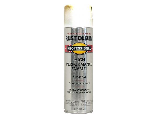 Rustoleum 7590-838 15 Oz White Flat High Performance Enamel Spray Paint -  Pack of 6 - Newegg com