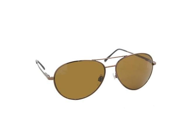 Coppermax Aviator Polarized Sunglasses Amber Lens Shiny Brown