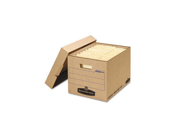Bankers Box FEL7150001 Filing Storage Box with Locking Lid, Letter-Legal,  Kraft, 25-Carton - Newegg com