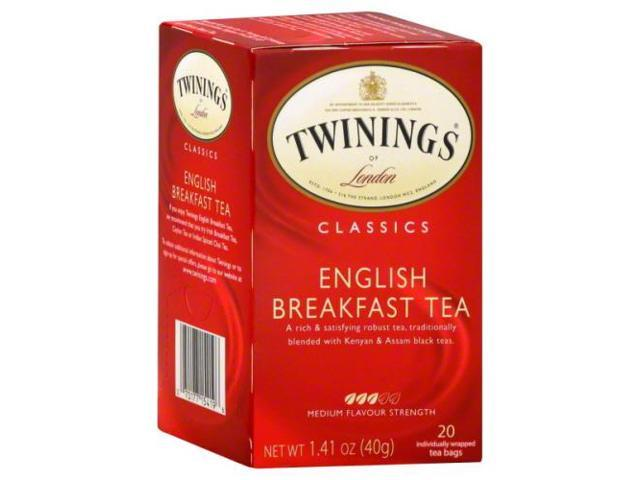 twinings of london english breakfast tea bags  20 count
